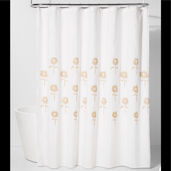 Threshold Charming Spaces Print Shower Curtain Pink //Black 100/% Cotton 72x 72